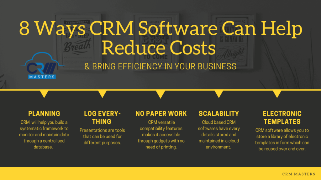 8 Ways CRM Software Can Help Reduce Costs & Bring Efficiency in Your Business