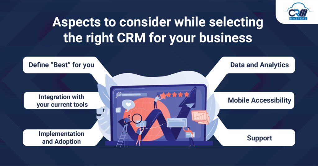 aspects to consider while selecting the right crm for your business