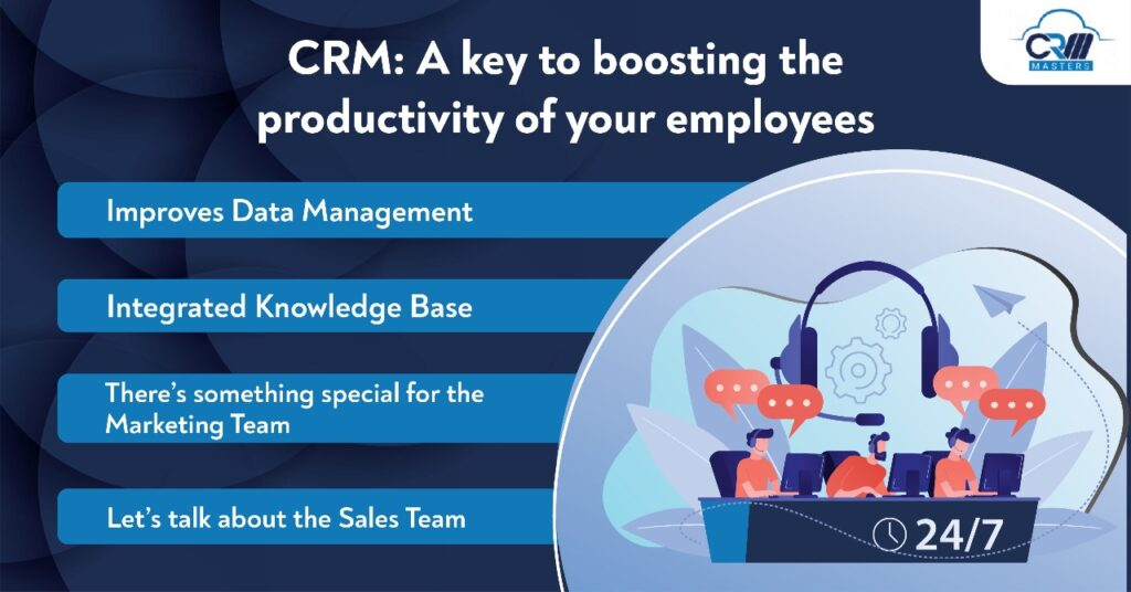 crm a key to boosting the productivity of your employees